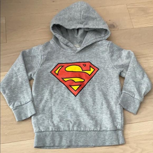 H&M Other - H&M Superman Hooded Sweatshirt Toddler 2-4